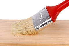 Painting wood surface. Close up of the painting wood surface Royalty Free Stock Images
