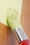 Painting wood surface Stock Image