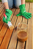 Painting wooden deck Stock Image