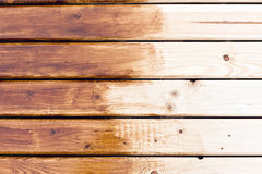 Painting wooden table Royalty Free Stock Photography