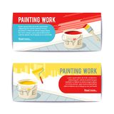 Painting Work Banners Royalty Free Stock Photos