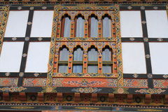 Painting work at the Dzong Royalty Free Stock Photo