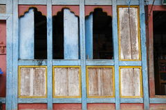 Painting work at the Dzong Royalty Free Stock Photos
