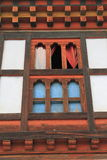 Painting work at the Dzong Stock Image