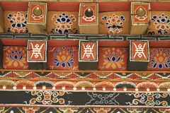 Painting work at the Dzong Royalty Free Stock Images