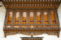 Painting work at the Dzong Stock Photo