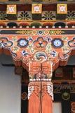 Painting work at the Dzong Stock Photos