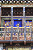 Painting work at the Dzong Royalty Free Stock Photography