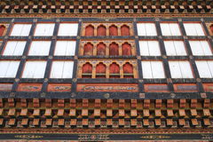 Painting work at the Dzong Stock Photography