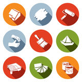 Painting work icon set Stock Images