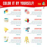 Painting Work Infographics Stock Photography