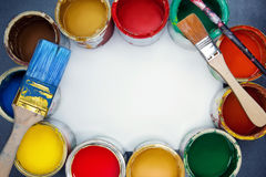 Painting workplace. royalty free stock images