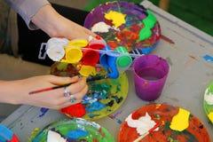 Painting workshop Stock Photo