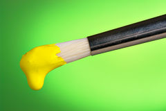 Painting in yellow Stock Image