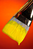 Painting in yellow Stock Photos