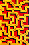 Painting zigzag Stock Images