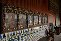 Paintings in Alcazar of Segovia Stock Image