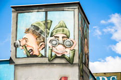 Paintings, The Berlin Wall. One of the paintings that is drawn near the Berlin Wall, Germany Royalty Free Stock Photo