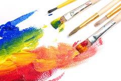 Paintings. Brush art paint artistic artist craft royalty free stock image