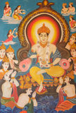 Paintings on the Buddhism. In temples of Thailand Royalty Free Stock Photography
