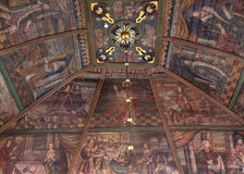 Paintings on ceiling in Tornio Church, Finnish Lapland. Stock Image