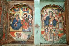 Paintings, Ethiopia. Painting in an orthodox church in Ethiopia, Africa Royalty Free Stock Photos