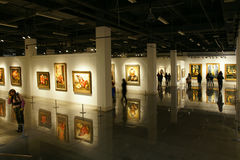 Paintings exhibition Royalty Free Stock Photo