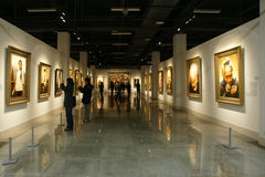 Paintings exhibition Stock Photography