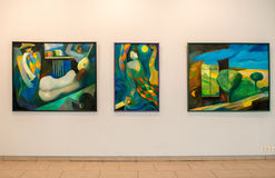 Paintings exhibition in Jurmala Stock Photography