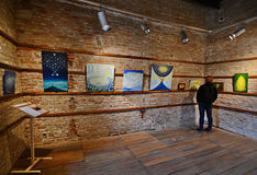 Paintings exhibition Royalty Free Stock Images