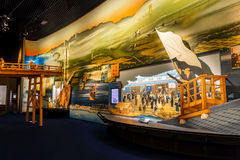 Paintings exhibits at Osaka Museum of History Stock Photography