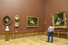 Paintings by famous painters in the Hermitage in St. Petersburg Stock Photos