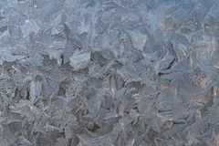 Paintings of frost on the glass Stock Image
