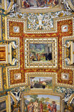 Paintings in the Gallery of Maps, Vatican stock photos