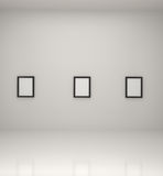 Paintings inside a gallery Royalty Free Stock Photo