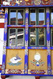 Paintings on Kyichu Lhakhang, Bhutan Royalty Free Stock Image