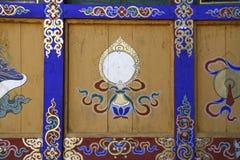 Paintings on Kyichu Lhakhang, Bhutan Stock Photos