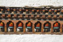Paintings on Kyichu Lhakhang, Bhutan Royalty Free Stock Photo