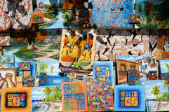 Paintings of a market at Santo Domingo on Dominican Republic Royalty Free Stock Photo