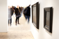 Paintings in museum Royalty Free Stock Photos