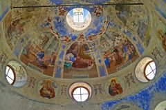 Free Paintings Of Subdome Space. Church Of The Fedorovsky Icon Of The Mother Of God. Uglich, Yaroslavl Region Royalty Free Stock Image - 124199896