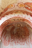 Paintings in Old Rock Church in Cappadocia, Turkey Stock Photo