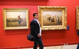 Paintings at Orsay Museum (Musee d'Orsay) - Paris Stock Photography