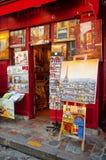 Paintings in Paris Stock Photos