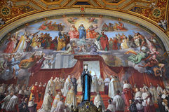 Paintings by Raphael in the Raphael Rooms. Vatican, Italy Royalty Free Stock Images