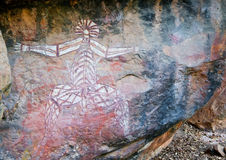 Paintings on rocks in australia Stock Photo