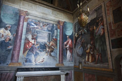 Paintings in a Roman Church Stock Photo