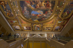 The paintings on the roof of the Venetian are styled after the sistine chapel. LAS VEGAS - MAY 7, 2015 - The artwork at the main entrance of the Venetian hotel Stock Images
