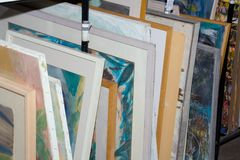 Paintings for sale Stock Photo