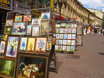 Paintings for sale Royalty Free Stock Photography